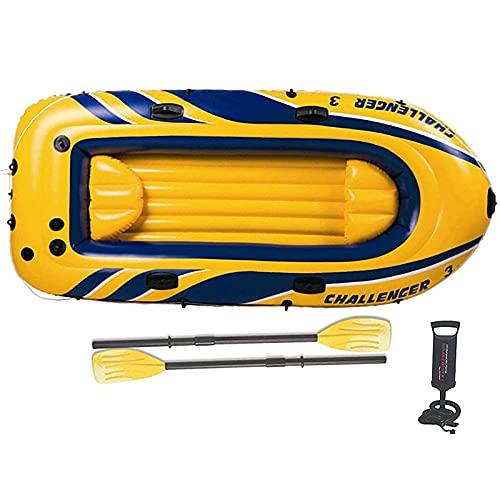 1-3 Persona Barco Inflable Canoa,Kayak Inflable de la balsa con la Paleta de la, Bomba de Aire, Barco para Adultos y niños, Barco de Pesca portátil,Aplicar para Deportes acuáticos