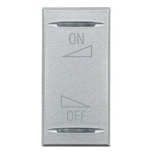 Legrand hc491 1ai Interrupteur à bascule Aluminium/1 M, réglage volume/silencieux