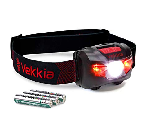 Ultra Bright CREE LED Headlamp - 200 Lumens, 5 Lighting Modes, White & Red LEDs, Adjustable Strap, IPX6 Water Resistant. Great For Running, Camping, Hiking & More. Batteries Included