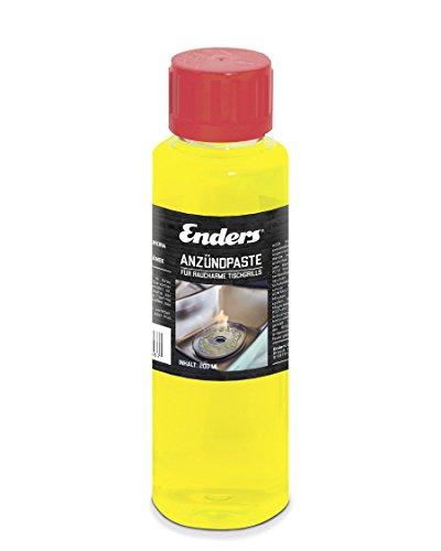 Enders® Anzündpaste für AURORA Tischgrill 1386, Brennpaste für Holzkohle-Grill, rauchfrei, Buchen-Holzkohle einfach und sicher anzünden