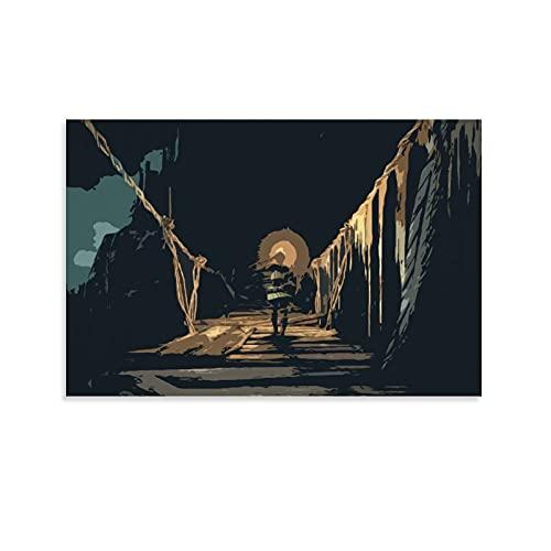 XIAOCAIi Poster sur toile Dark Souls - Décoration murale moderne pour chambre à coucher - 50 x 75 cm