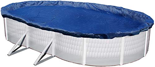 Blue Wave BWC926 Gold 15-Year 16-ft x 28-ft Oval Above Ground Pool Winter Cover,Royal Blue