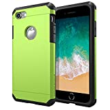 iPhone 7/8 Case, ImpactStrong Heavy Duty Dual Layer Extreme Protection Cover Heavy Duty Case for Apple iPhone 7/8 (Lime Green)
