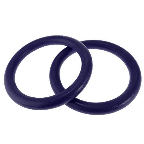 1 Paar Kunststoff Outdoor Gymnastikringe Turnringe Gym Ring Trainingsringe Fitness Ringe für Herren Damen Kinder - Blau