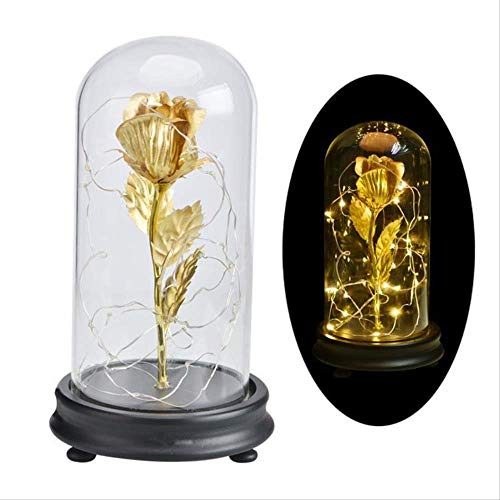 Lamp Night Lights Mood Lights Glas Cover Gouden folie Led Nacht Swing Tuit Valentijnsdag Gift Verjaardagscadeau