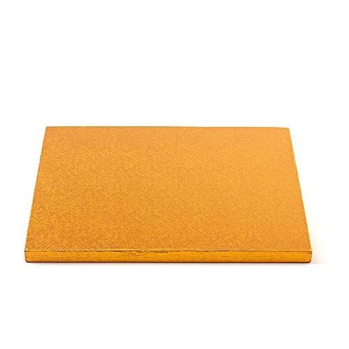 Decora 0931862 Carton pour GÂTEAU CARRÉ Orange 35X35X1,2H, Paper, 35 x 35 x 1,2 cm