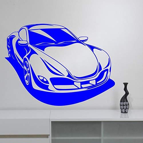 Huaden aftrekplaatje sport racing auto sticker auto huis kamerdecoratie afneembaar behang Kids Boy muurschildering 57X79CM 807 D
