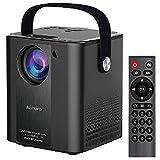 0℃ Outdoor Proyector, Proyector Portátil, Soporta 1080p Full HD, Corrección Trapezoidal y Zoom de Imagen, Compatible con PS5/PS4/PC/XBOX, Gran Regalo Ideal, Pequeño y Ligero,Negro