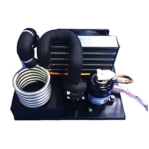 Auto-Klimaanlage Flüssigkeitskühler-Modul DC12V 106~360W Kühlermodul Flüssigkeitskühlsystem , Tragbare stianlose Stahlspule S-Typ Flüssigkeitskühler R134A Kältemittel Miniatur-Wasserkreislauf-Kühlun