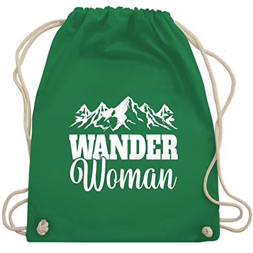 Sonstige Sportarten - Wander Woman - weiß - Unisize - Grün - Fun - WM110 - Turnbeutel und Stoffbeutel aus Baumwolle