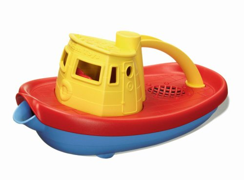 Green Toys Bath & Water Play Tugboat, Yellow Top 6+ months