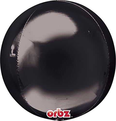 Amscan 2834399 Orbz zwarte folie ballon 15