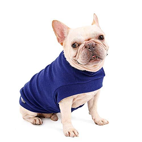 Dociote Jersey para Perro Pequeño- Ropa para Perros y Gato Chaleco Suéter para Invierno para Perro Mascotas pequeño y medianos S Azul