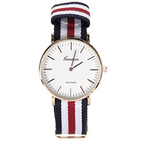 Reloj de tela militar Geneva de la moda My.