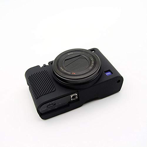 Zakao RX100 III IV V VI Funda de silicona suave ligera delgada piel de goma protectora para cámara digital Sony RX100 III IV V V VI (negro)