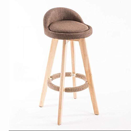 LQRYJDZ Barhocker Massivholzstuhl mit hoher Rückenlehne Modischer Schreibtischstuhl (360 ° drehbarer Barhocker) Moderner Barhocker Runder Barhocker (28,7 Zoll) (Color : A)
