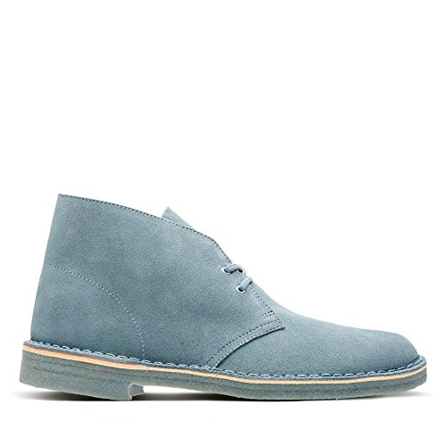 Clarks ORIGINALS Desert Boot, Polacchine Uomo, Blu (Blue/Grey), 41.5 EU