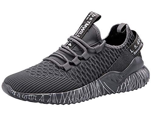 SINOES Zapatillas de Mujer Deporte Planas de Malla Transpirable Zapatos Casuales de Zapatos de Malla Aire Libre para Mujer Slip Casual en Suelas cómodas Running Zapatos Deportivos