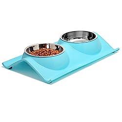 Image of Upsky Double Dog Cat Bowls...: Bestviewsreviews