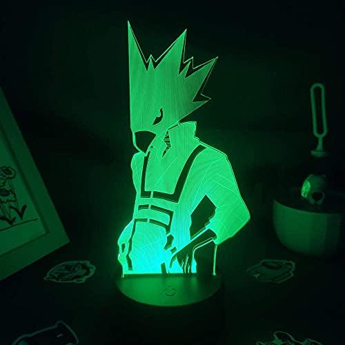 Fumikage Tokoyami Anime My Hero Academia Figura 3D Led para Amigos Lámpara Lava Dormitorio Decoración de Mesa para Cumpleaños/Regalo de Navidad