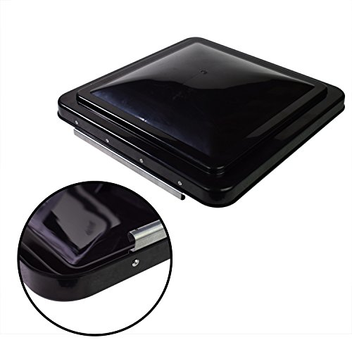 Leisure Coachworks 14 Inch RV Roof Vent Cover Universal Replacement Vent Lid Black for Camper Trailer Motorhome (Black 1-Pack)