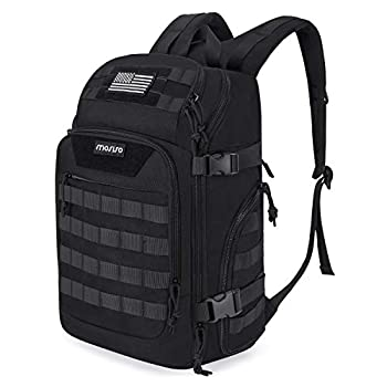 MOSISO 30L Tactical Backpack Military Daypack 3 Day Assault Molle Rucksack Bag Black