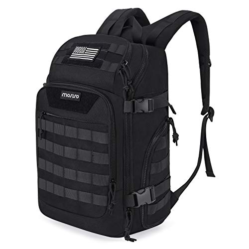 MOSISO 30L Tactical Backpack, Military Daypack 3 Day Assault Molle Rucksack Bag, Black