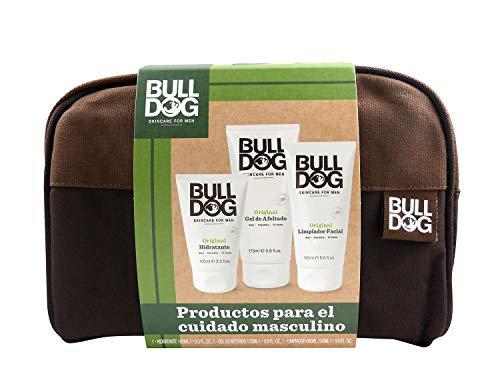 Bulldog Cuidado Facial Para Hombres Pack - Kit Cuidado Completo, Limpiador Facial 100 ml + Gel Afeitado 175 ml + Crema Hidratante 150 ml