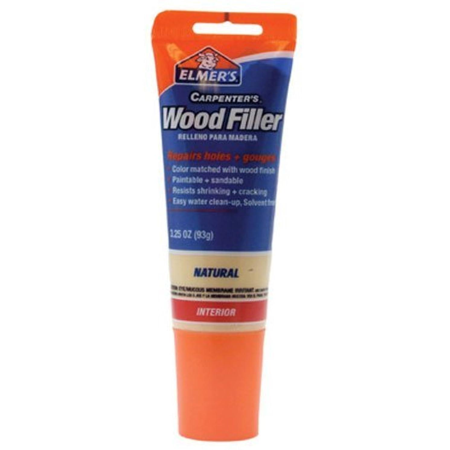 Elmer's E868 Carpenter's Wood Filler, 3.25-Ounce Tube, Natural - 2 Pack