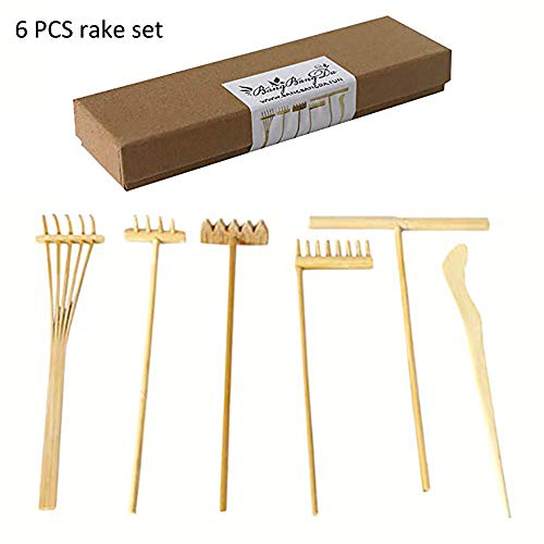 Zen Rake Mini Zen Garden Rakes ,Meditation Sand Zen Garden Tools, DIY Rock Zen Garden Kit Sets, Fidget Toy, Zen Garden Accessory,Father's Gift,Man's Gifts,Mother's Gifts (Rake Sets)