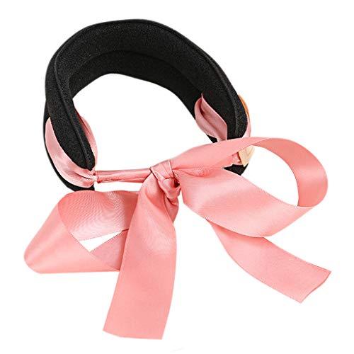 Dabixx Chignon de Cheveux Maker, des Boucles de Cheveux pour Femme Chignon Maker Ruban Bowknot Nœud Support DIY Outil Bandeau Headband-Sky Bleu Rose