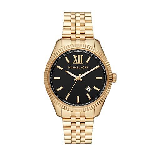 Michael Kors Herren Analog Quarz Uhr mit Edelstahl Armband MK8751