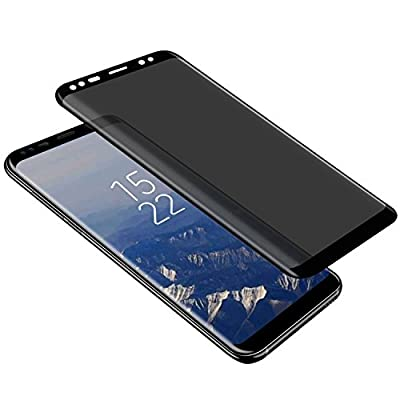 Galaxy S9 Plus Privacy Screen Protector, Tempered Glass [Anti-spy] [9H Hardenss] [3D Curved] [Easy Installation] Screen Film for Samsung Galaxy S9 Plus/S9+