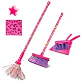 Masthome Kids Cleaning Set Includes 6 Cleaning Tools Cleaning Play Set with Broom, Cleaning Sponge, Dustpan, Mop and Microfiber Cloth