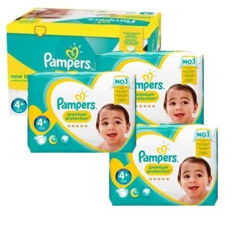 Couches Pampers - Taille 4+ new baby premium protection - 105 couches bébé