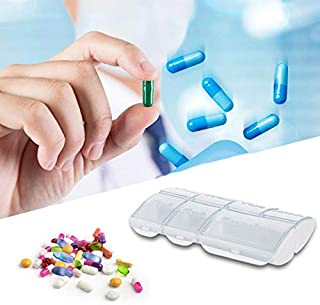kraker Weekly Pill Organizer Arthritis Friendly, BPA Free Travel 7 Day Pill Box Case with Spring Open Design and Large Com...