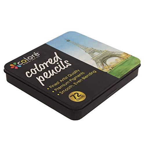 Lápices para Colorear, Paquete Profesional de 72 Colores, núcleos Suaves a Base...