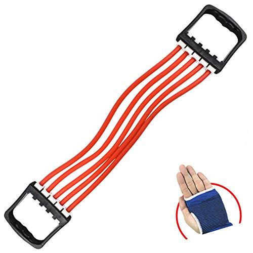 Manyao Petto espansione del Torace Ginnico for Gli Uomini - Portable Lattice Multi-Function Fune Esercizio Yoga di Forma Fisica della Fascia di Resistenza Rosso