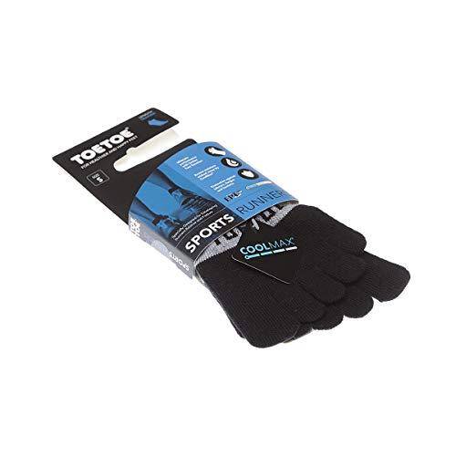Toe Toe Chaussette Anatomiques (gauche droite) - 1 paire - A doigts - Sans couture - Resserrage cou de pied - Anti bactérienne - Running - Coolmax - Running trainer