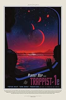 NASA/JPL Exoplanet Space Tourism Retro Poster 24x36 Trappist-1e Beyond Our Solar System