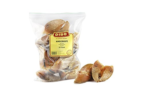 DIBO Rinderhufe, lose, 20 Stück-Beutel, der kleine Naturkau-Snack oder Leckerli für Zwischendurch, Hundefutter, Qualitätskauartikel ohne Chemie von DIBO
