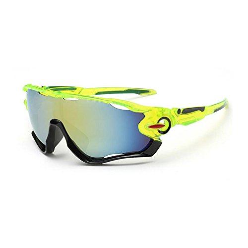 Kry UV400Lunettes de soleil de sport pour homme Driver de golf de pêche incassable Cadre en métal noir Black & Green 145mm * 50mm * 122mm