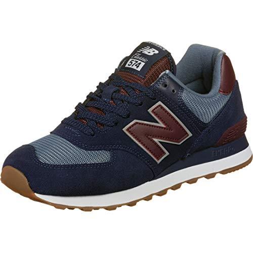 New Balance Herren 574v2 Sneaker, Blau (Navy/Red SPO), 38.5 EU
