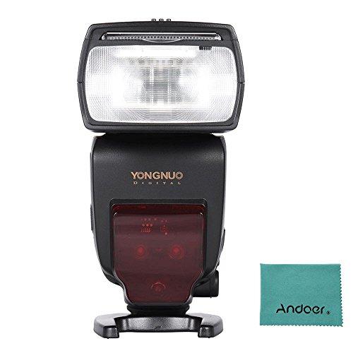YONGNUO YN685 i-TTL HSS 1/8000s GN60 2,4 G kabelloser Blitzauslöser für Nikon D750 D810 D7200 D610 D7000 D5500 D5200 D5300 D3300 D3200 DSLR-Kameras, mit Andoer-Reinigungstuch
