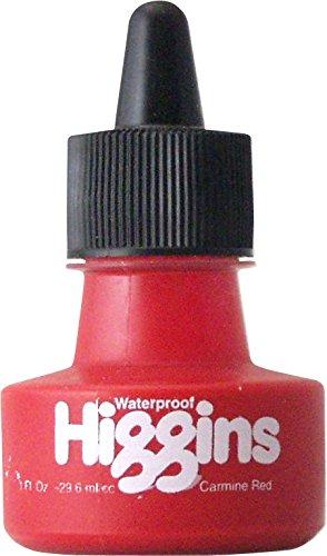 Higgins Dye-Based Drawing Ink, Carmine Red, 1 Ounce Bottle (44105)