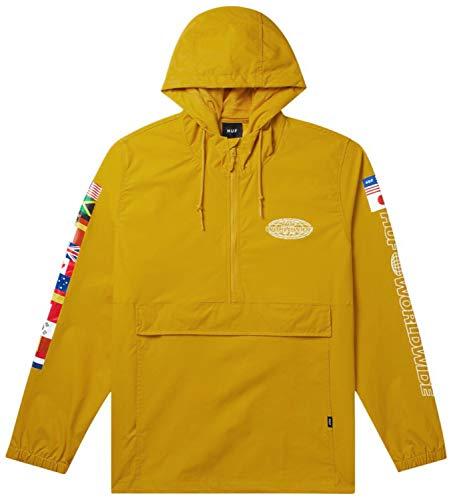 HUF World Tour Anorak Windproof Jacket X Large Sauterne