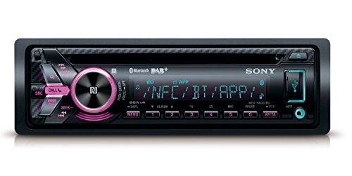Sony MEXN5200BT - Radio CD (USB, Bluetooth, NFC, iluminación Variable, Micro Externo y Control de Voz Compatible iPhone y Android) Negro