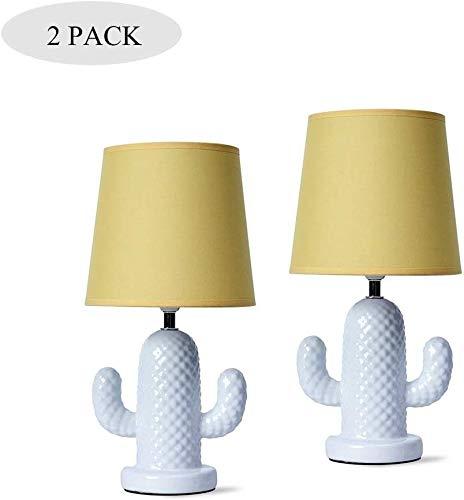 Zenghh Antike Stoff Tischlampe Keramik-Buch-Licht mit 3 Level-Modus Glühlampe Art Dekoration Schreibtischlampe am Bett Wohnzimmer Kind-Raum-Dresser-Leselicht Nordic Lighting Geschenk