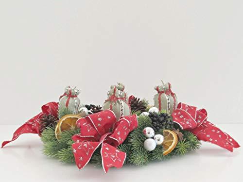 Adventskranz Gift bag Weihnachten Sterne kugeln Lichter Kerzen Weihnachtsbaum Kranz Schleifen