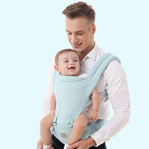 RUIBZTZ Portabebés Ergonómico, Suave, Transpirable Y Cómodo, Portabebés Convertible, para Envoltura para Recién Nacidos En Todas Las Estaciones, Azul